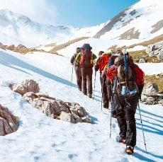Trektocht over gletsjers