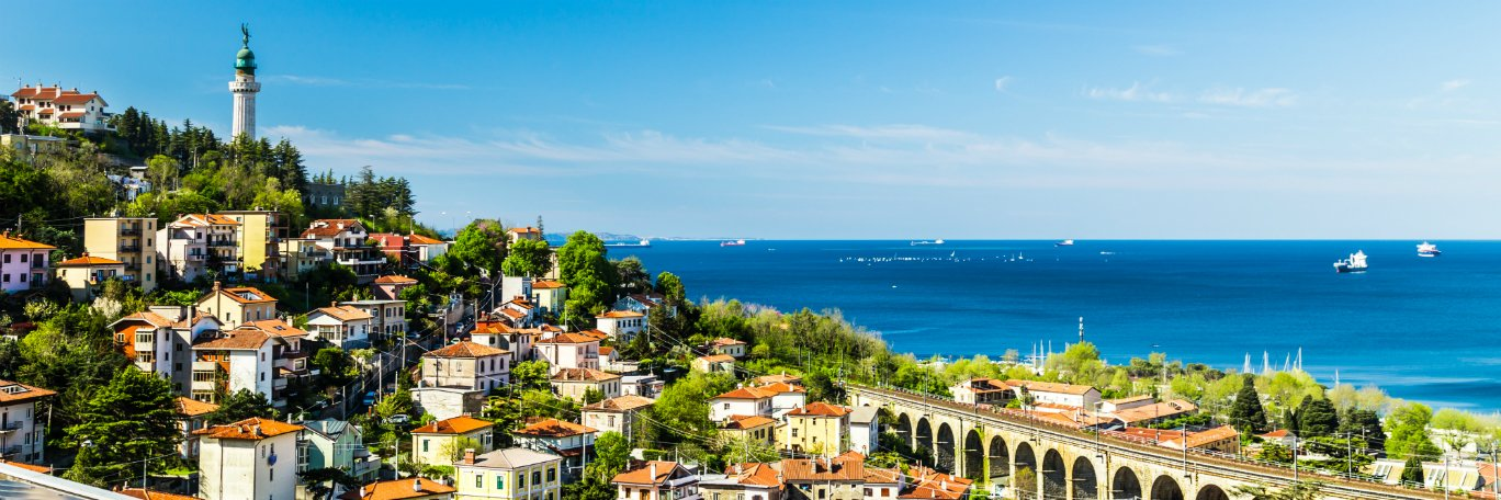 Panoramisch uitzicht Trieste