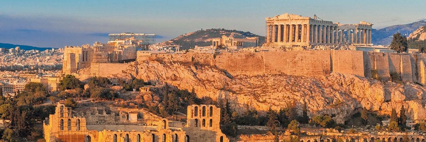 Panoramisch uitzicht Athene