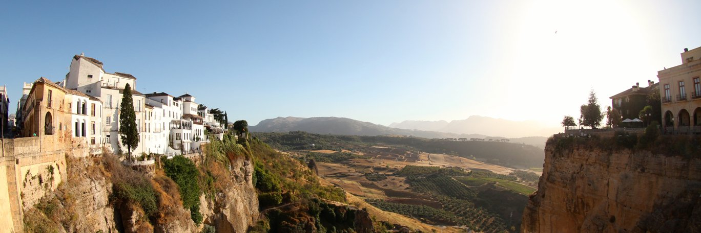 Panoramisch uitzicht Spanje