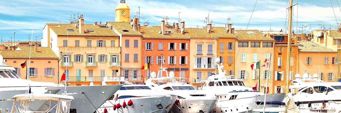 Panoramisch uitzicht Baai van Saint-Tropez
