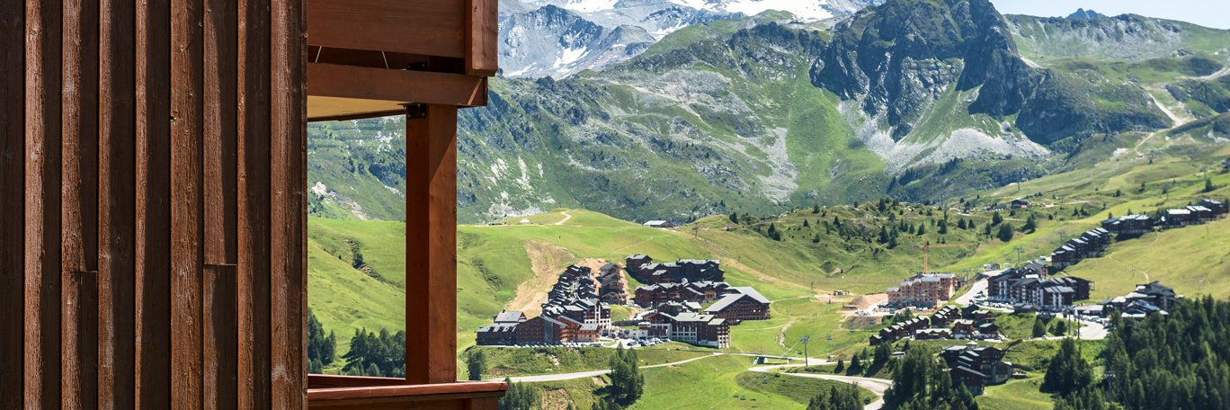 Panoramic visual Aime-la-Plagne