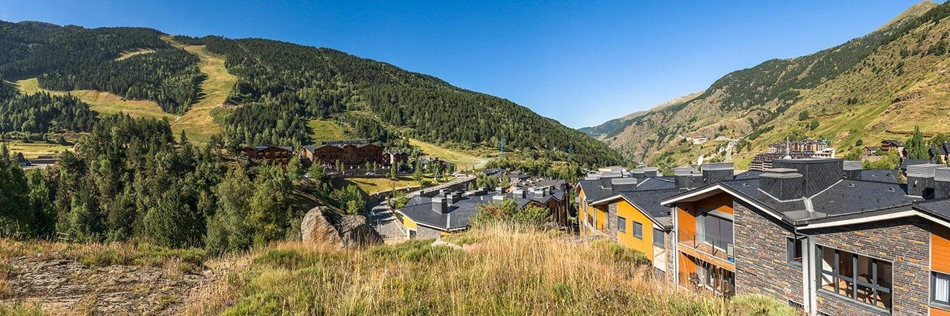 Panoramische Sicht Andorra