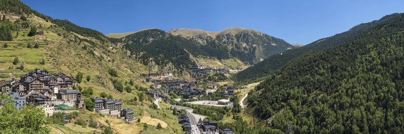 Panoramisch uitzicht Andorre