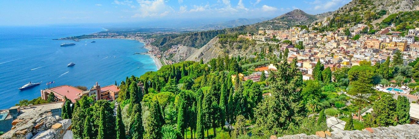 Panoramisch uitzicht Sicilië